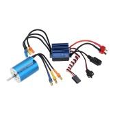 2838 3600KV 4P Бездатчиковое безщеточный мотор & 35A безщеточный ESC электронные скорости контроллер для 1 1/14/16-1/18 RC автомобиль