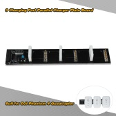 Multi-Battery Rapid Parallel Charger Plate Board 3 Charging Port with LED Indicator for DJI Phantom 4 Quadcopter