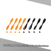 4 Pair CW/CCW Propeller for CTW-Mini110 120 130 Micro Racing Drone 2mm Shaft Coreless Motor