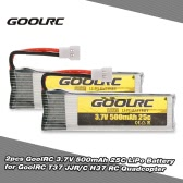 2pcs Original GoolRC 3.7V 500mAh 25C LiPo Battery for GoolRC T37 JJR/C H37 RC Drone Quadcopter