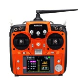 Original Mode 2 Orange RadioLink AT10 2.4G 10CH Remote Control System Transmitter w/ R12DS Receiver & PRM-01 Voltage Return Module