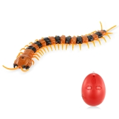 Infrared Remote Control Simulation Scolopendra Horrible Centipede Insects Bugs RC Animal Toy Christmas Present Halloween Gift for Kids