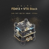 HGLRC FD413-VTX STACK Combined with 16x16 2-4S F411 Flight Controller FD Micro VTX and FD13A BLS 4in1 ESC for FPV Racing Drone