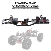 RC Car Frame Carbon Metall Auto Chassis Strahl mit 540 Motor für AXIAL SCX10 RC Crawler Klettern Auto DIY