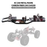 RC Car Frame Carbon Fiber Metal Car Chassis Beam with 540 Motor for AXIAL SCX10 RC Crawler Climbing Car DIY