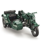 DOUBLE E C51021W 629 PCS Building Blocks Guerra mondiale II Military Motorcycle RC Toy