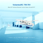 Original Volantex RC TW-781 Cessna 2.4G 2CH RC Airplane 200mm Wingspan Mini EPP Infrared Remote Control Indoor Drone Aircraft RTF