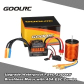 GoolRC Upgrade Waterproof F540 3300KV Brushless Motor with 45A ESC Combo Set for 1/10 RC Car Truck