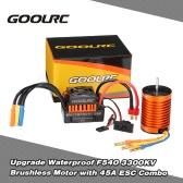 GoolRC Upgrade Wodoodporna F540 3300KV bezszczotkowy ze 45A ESC Combo Set for 1/10 RC Car Truck