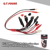 G.T.POWER 7 in1 Multi-function Li-po Battery Convert Charging Cable with Banana Connector for Balance Charger
