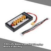 2-6S LiPo Battery Parallel Charging Adapter Board XT60 Plug Balance Plate for Imax B6 B6AC