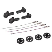 4pcs Main Gear 4 pcs Motor Cover and 2 Pairs 8520 Coreless CW/CCW Motor for VISUO XS809W XS809HW FPV Quadcopter
