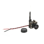 Rutforce T10 3-in-1 5.8G 40CH 25mW 1000TVL 120 ° Wide Angle FPV Mini Camera Supporto PAL / NTSC per RC Racing Drone