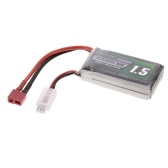 Batteria ricaricabile Li-Po 7.4V 1500mAh 30C 2S con spina T per RC Racing Drone Quadcopter Elicottero Airplane Car Truck
