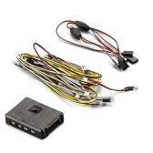 Zestaw lamp LED Light w / Control Box 14 LEDS Biały Czerwony Żółty do KB48601 1/10 Toyota Land Cruiser RC Car