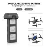 Batterie de drone modulaire de la batterie 7.6V 3400mAh de Lipo pour le quadricoptère Wi-Fi de FPJ JJR / C X11 RC MJX B4W