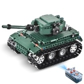 DOUBLE E 313PCS 2.4G Remote Control Tank Building Blocks Bricks Compatible Technic Assemble RC Toy