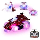 2.4G Remote Control Stunt Car 360° Revolve Drift RC Car Toy with Flashing LED Lights