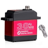 DS3230 30KG Digital Servo IP66 Waterproof Stainless Steel Gear Steering Servo 270 Operating Degree with 25T Servo Arm