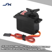 JX PDI-5521MG-360° 21KG Metal Gear Digital Standard Servo for RC Robot Car Boat Drone Helicopter