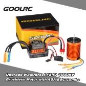 GoolRC Upgrade Wodoodporna F540 3000KV bezszczotkowy ze 45A ESC Combo Set for 1/10 RC Car Truck