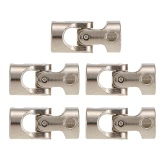 5pcs Stainless Steel 4 to 6mm Full Metal Universal Joint Cardan Couplings for RC Car and Boat D90 SCX10 RC4WD