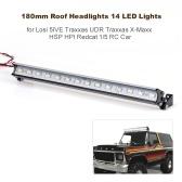 Phares de toit 180 mm pour dôme hors route RC 14 lumières LED pour voiture Losi 5IVE Traxxas UDR Traxxas X-Maxx HSP HPI Redcat 1/5 RC