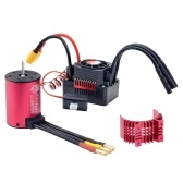 3100 KV 3650 Brushless Motor Waterproof 60A Brushless ESC with BEC XT60 Plug for 1/10 RC Car Accessories