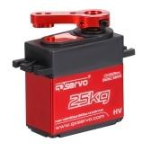 25KG Digital Servo with 25T Servo Arm IP66 Waterproof Copper Gear High Torque 180 Operating Angle