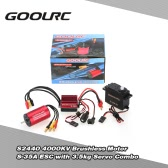 GoolRC S2440 4000KV Brushless silnika S-35A ESC 3.5 kg Servo Upgrade Brushless Combo Set for 1/16 RC Car Truck