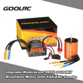 GoolRC Upgrade Waterproof 3650 3100KV bezszczotkowy ze 45A ESC Combo Set for 1/10 RC Car Truck