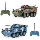 CRAZON 333-ZJ11A 1/20 Maßstab Zwei Infrarot Fernbedienung Panzerwagen Schlachtfahrzeuge Spielzeug für Kinder