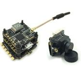 HGLRC XJB F438-TX20.V2-ELF F4 Flight Controller OSD 4in1 38A Blheli_S ESC 5.8G FPV Transmitter 600TVL Camera for RC Racing Drone