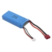 RC Li-Po Battery 7.4V 2500mAh 40C 2S Rechargeable with T Plug for WLtoys 12428 RC Car Drone Boat Helicopter Airplane 2pcs