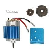 Aluminum Alloy 540 Motor Motor Base  Motor Heatsink Cover  Reduction Gear Motor Gear for WLtoys 12428 12423 1/12  RC Car