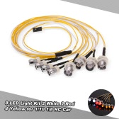 8 LED-Licht Kit 2 White 2 Rot 4 Gelb für 1/10 1/8 Traxxas HSP Redcat RC4WD Tamiya Axial SCX10 D90 HPI RC Car
