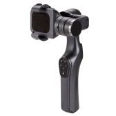 JJ-1S Stabilizzatore del piatto del giunto cardanico tenuto in mano senza spazzola a 2 assi con adattatore per piastra per smartphone GoPro Hero 5/4/3 Camera