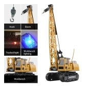 Remote Control Electric Construction Crane Music Sound Colorful Light 360 Degree Rotation