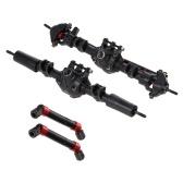 Assale completo anteriore posteriore dritto per auto RC con alberi di trasmissione in metallo 2 pezzi per 1/10 RC Crawler Axial SCX10 II 90046 90047