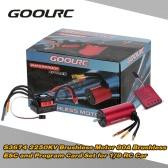 GoolRC S3674 2250KV Sensorless Brushless Motor 80A Brushless ESC and Program Card Combo Set for 1/8 RC Car Truck