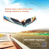 DW HOBBY Rainbow Flying Wing EPP 800mm Wingspan Tail Push KIT FPV RC Airplane with Motor ESC Servo