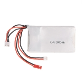 Lipo Battery 2S 7.4V 2000mAh 8C Lipo Battery per FrSky TARANIS Q X7 2.4G ACCST 16CH Remote Controller RC Transmitter