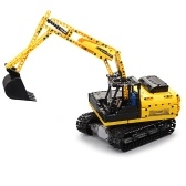DOUBLE E C51057 2.4GHz 1:20 4WD 544pcs Building Blocks Tracked Digger