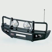 Alloy Front Bumper w/ LED Light Lamp for RC4WD TF2 LWB Axial SCX10 & SCX10_Ⅱ 1/10 RC Crawler Truck and SUV
