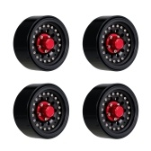 4PCS 1.9in Metal Beadlock Wheel Rim Hub for 1/10 RC Crawler Car Compatible with TRX4 Hsp Redcat Traxxas Tamiya Hpi Rc4wd Axial RC Car