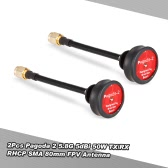 2Pcs Pagoda 2 5.8G 5dBi 50W Omnidirectional TX/RX RHCP SMA 80mm FPV Antenna for RC FPV Racing Drone Goggles