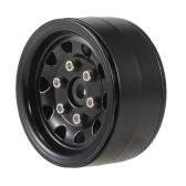 4pcs AUSTAR AX-618BK 1.9inch Metal Wheel Hub Rim Set for Axial SCX10 RC4WD D90 1/10 RC Rock Crawler Car