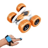 4WD 2.4 Ghz Wireless Watch Control Racing RC Car 360 ° Spin Flip 2 lati faro di controllo
