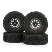 4PCS AUSTAR 2.2 Inch 132mm Rock Crawler Wheels with Metal Hub Set