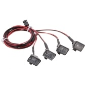 4pcs RC Car Multi-función Square LED luz con pantalla para 1/10 RC Crawler Car HSP REDCAT Axial SCX10 Traxxas TRX-4